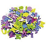 Figuras adhesivas Smart Wall Paint Letras y números colores surtidos goma eva 170 unidades