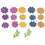 Figuras adhesivas Grafoplás Flores colores surtidos goma eva 58 unidades