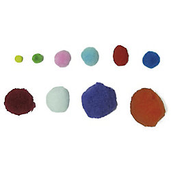 Pompones Smart Wall Paint colores surtidos rafia 100 unidades