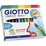 Rotulador escolar GIOTTO Turbo Maxi punta redonda colores surtidos 24 unidades