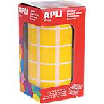 Gomets cuadrados en rollo APLI Amarillo 1770 etiquetas por paquete