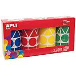Gomets geométricos en rollo APLI Gigantes Surtido 5428 etiquetas por paquete