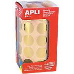Gomets redondos en rollo APLI Oro 1770 etiquetas por paquete