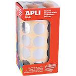 Gomets redondos en rollo APLI Plata 1770 etiquetas por paquete