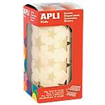 Gomets estrellas en rollo APLI Oro 2360 etiquetas por paquete