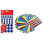 Gomets geométricas APLI Figuras grandes Surtido 468 etiquetas por paquete