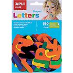 Gomets letras APLI Letras a z Surtido 150 etiquetas por paquete