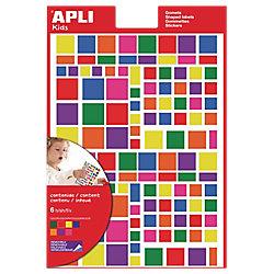Gomets cuadrados APLI Surtido 756 etiquetas