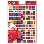 Gomets cuadrados APLI Surtido 756 etiquetas por paquete
