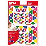 Gomets triángulos APLI Surtido 720 etiquetas por paquete
