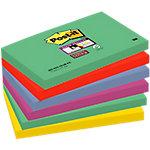 Notas adhesivas Post it 127 x 76 mm verde, rojo, azul, violeta, amarillo 6 unidades de 90 hojas