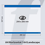 Sistema de fijación PosterFix A4 299 (a) x 237 (h) mm Azul 5 unidades