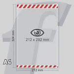 Sistema de fijación PosterFix A4 212 (a) x 324 (h) mm Blanco, rojo 2 unidades