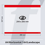 Sistema de fijación PosterFix A4 299 (a) x 237 (h) mm rojo 5 unidades