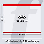 Sistema de fijación PosterFix rojo 42,2 x 32,4 cm 5 unidades