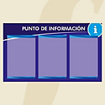 Punto informativo PosterFix A4 Azul