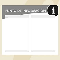 Punto informativo PosterFix A4 blanco