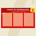 Punto informativo PosterFix A4 Rojo