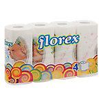Rollo papel de cocina florex HC51025 1 capa 4 rollos