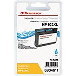Cartucho de tinta Office Depot compatible hp 933xl cian cn054e