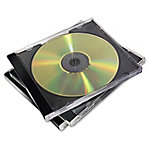 Caja para CD Fellowes , Caja transparente para CD, 2 discos, Negro, Transparente, De plástico, 120 mm, 148 mm 98310