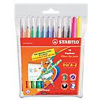 Rotulador para niños STABILO Trio A Z punta de fibra colores surtidos 12 unidades