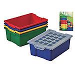 Cubeta grande FAIBO con tapa colores surtidos polipropileno 31 x 14,8 x 42 cm