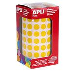 Gomets redondos en rollo APLI Amarillo 5192 etiquetas por paquete