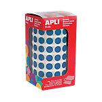 Gomets redondos en rollo APLI Azul 5192 etiquetas por paquete