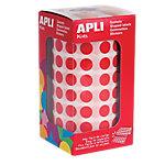 Gomets redondos en rollo APLI Rojo 5192 etiquetas por paquete
