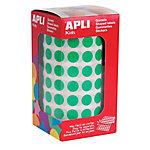 Gomets redondos en rollo APLI Verde 5192 etiquetas por paquete