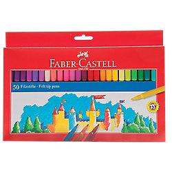Rotulador de dibujo Faber-Castell 554250 colores surtidos 50 unidades