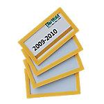 Marco de identificación Tarifold amarillo pvc 8 x 4,5 cm 4 unidades