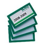 Marco de identificación Tarifold verde pvc 8 (a) x 4,5 (h) cm 4 unidades