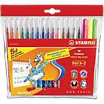 Rotulador para niños STABILO Trio A Z punta de fibra colores surtidos 18 unidades