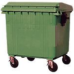 Contenedor basura Trilla Denox Industrial con ruedas 1000 L 136 x 109 x 135 cm verde