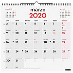 Calendario mural Finocam 1 mes por página 2020 blanco