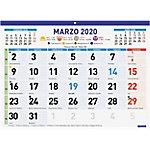 Calendario faldilla Finocam 43 x 31 cm 1 mes por página 2020 blanco