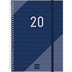 Agenda Finocam Year semana a la vista 2020 azul