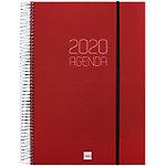 Agenda Finocam Opaque A4 1 día por página 2020 burdeos