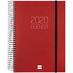 Agenda Finocam Opaque 15 x 21 cm 1 día por página 2020 burdeos