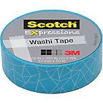 Cinta adhesiva washi Scotch Expressions azul 15 mm x 10 m