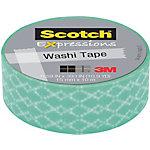 Cinta adhesiva washi Scotch azul 15 mm x 10 m