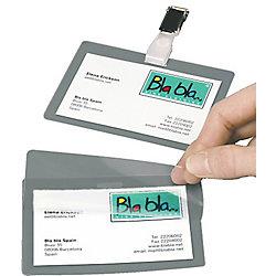 Identificador con clip 3L clip ID Tags  Horisontal. 104x74 mm. 10 pcs. 104 x 74 mm 10 unidades