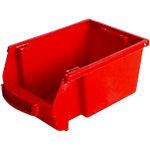 Contenedor de almacenaje apilable Viso polipropileno 10,1 x 15,7 x 7 cm rojo