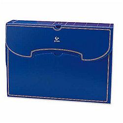 Caja de archivo definitivo Grafoplás Folio azul polipropileno 36 (a) x 26 5 (h) x 8 5 (p) cm 10 unidades