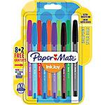 Bolígrafo con capuchón Paper Mate InkJoy 100 1.0 mm colores surtidos mediano 10 unidades