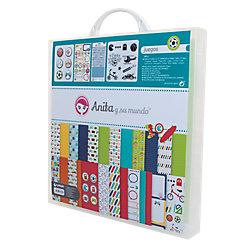 Maletín de Scrapbooking Grafoplás Juegos colores surtidos 8 unidades