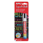 Rotulador de tiza borrable APLI Liquid Chalk punta redonda blanco