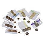 Tubo para monedas Click Coin 5 céntimos rojo, transparente 90 x 10 x 70 mm 100 unidades
